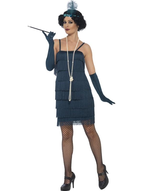 6b63e2772145 E-shop   Karnevalové kostýmy   Kostýmy pro dospělé   Prohibice a Gatsby    Dámské šaty Prohibice s třásněmi
