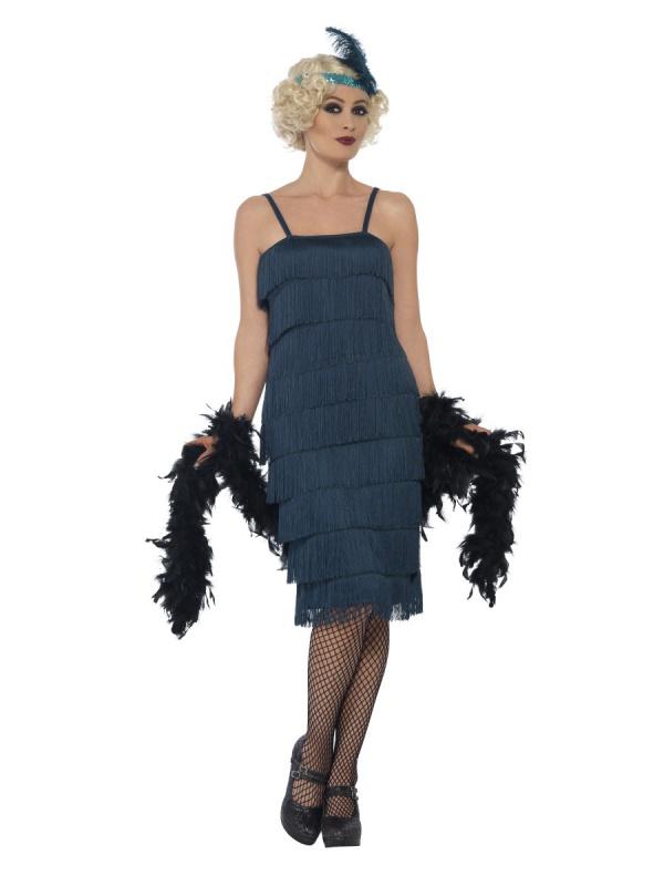 a30d8f43656a Dámské šaty Prohibice s třásněmi zelené - Ptákoviny Ípák
