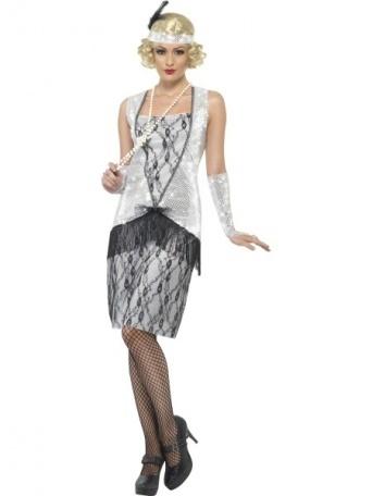 ba5d42872f92 Kostým pro ženy - Prohibice stříbrná - Ptákoviny Ípák