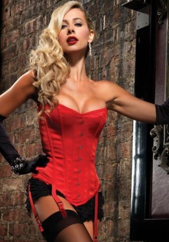 Deluxe dámský korzet - červený - Ptákoviny Ípák 4d1b63470b6