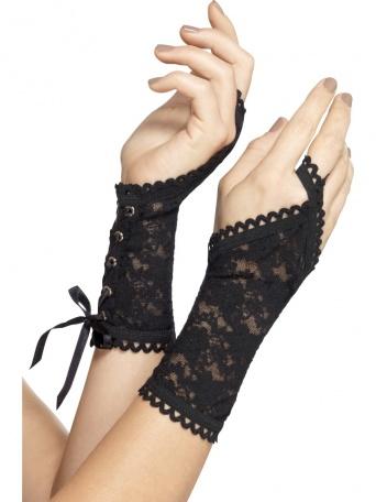 2b2e94e45f9 Krajkové rukavičky - černé - Ptákoviny Ípák